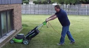 Electric corded lawnmower