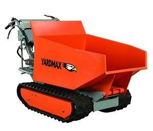Yardmax hydraulic assist track barrow