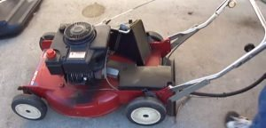 Inspection of lawn mower
