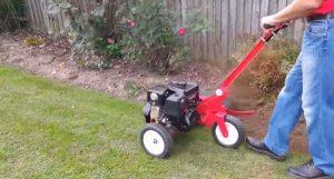 using forward mowing